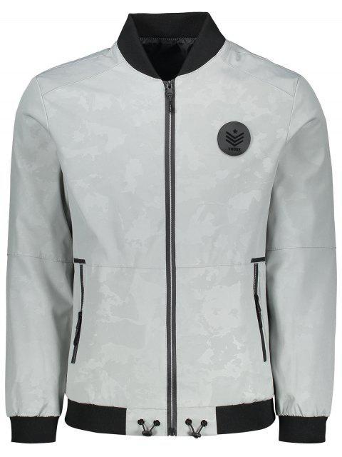 Veste Camo Design à Patch - Gris Clair XL Mobile