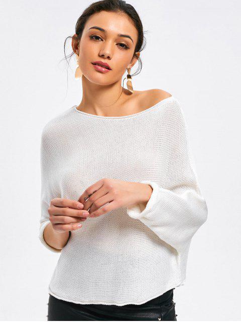 Knitwear de hombro descubierto Batwing - Blanco S Mobile