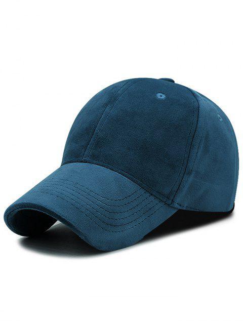 Faux Suede Plain Baseball Mütze - TINTE BLAU  Mobile