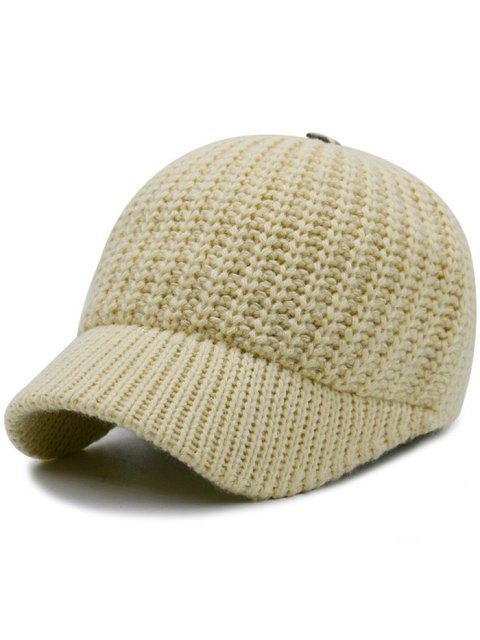 Plain Ribbed Knit Baseball Mütze - Palomino  Mobile