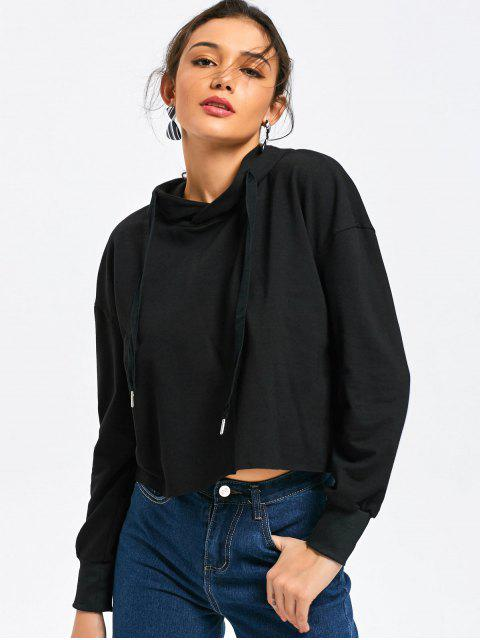 Casual Oversized Cropped Hoodie - Negro S Mobile