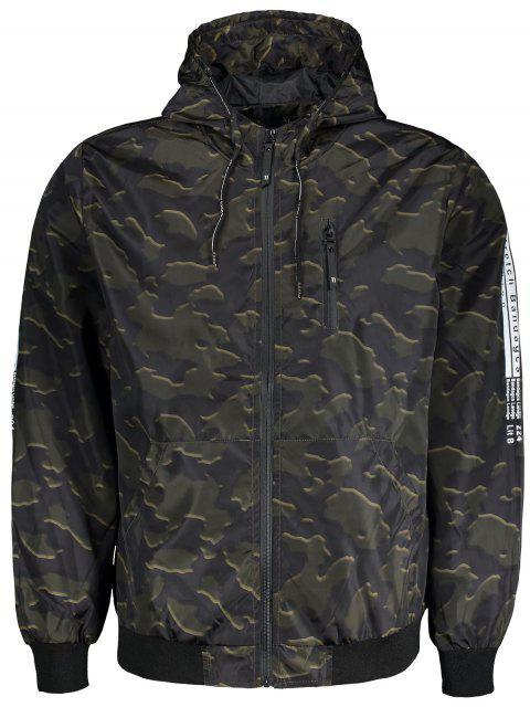 best Hooded Camo Windbreaker Jacket - ACU CAMOUFLAGE L Mobile