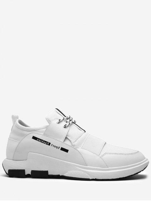Zapatillas de deporte de la letra de empalme - Blanco 40 Mobile