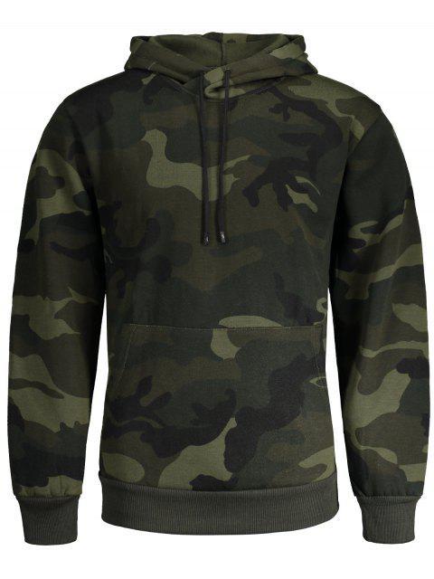 Sudadera con capucha Fleece Mens Camo - Ejercito Verde L Mobile
