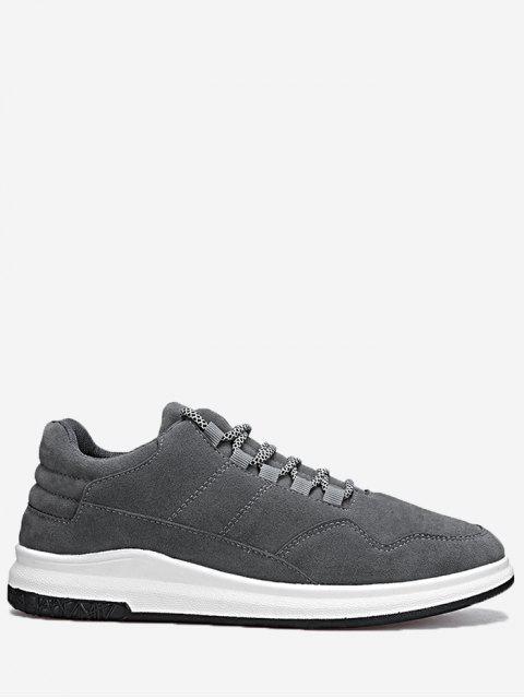 Encaje las zapatillas de deporte de costura - Gris 44 Mobile