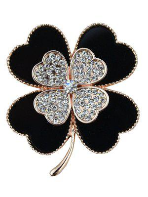 Rhinestone Alloy Floral Love Heart Brooch