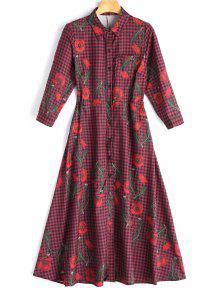 Vestido De Camisa Com Calça Floral Cheia - Verificado M