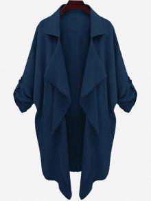 Manteau à Ossature Drapée Asymétrique - Azuré M