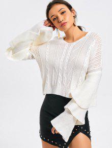 Camisola Em Camadas Em Mola - Branco M