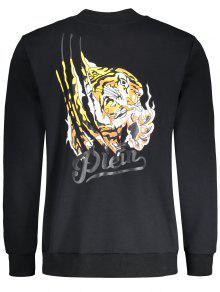 Tigre Chaqueta 4xl Con Cremallera De Negro U6w6Zq