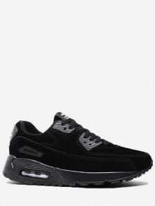حرف خياطة الدانتيل يصل حذاء رياضة - أسود 41