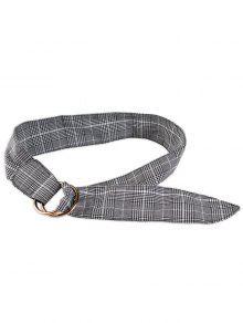 منقوشة طباعة حزام القماش أدجوستابل - رمادي