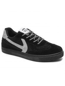 تنفس اللون خياطة أحذية تزلج - أسود 40