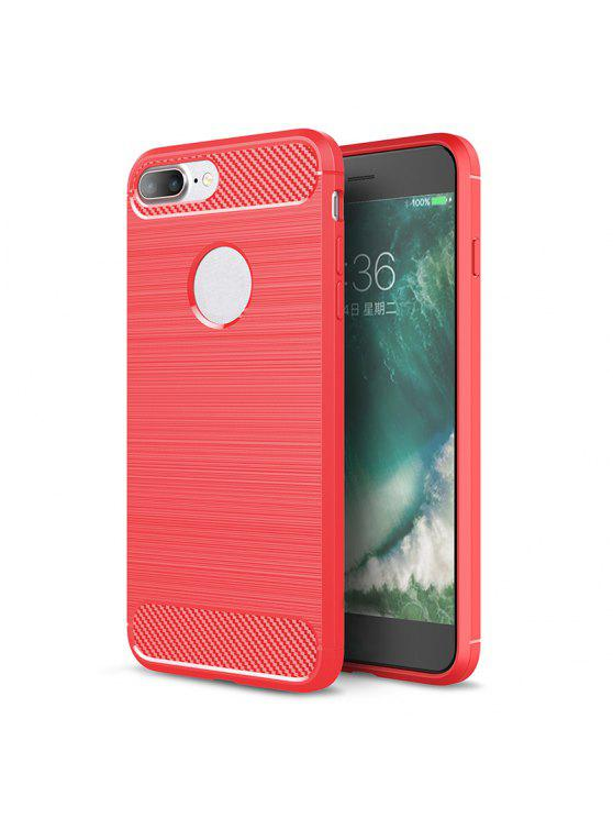 Custodia Per Iphone Morbida Di Silicone - Rosso Per iPhone 8 Plus