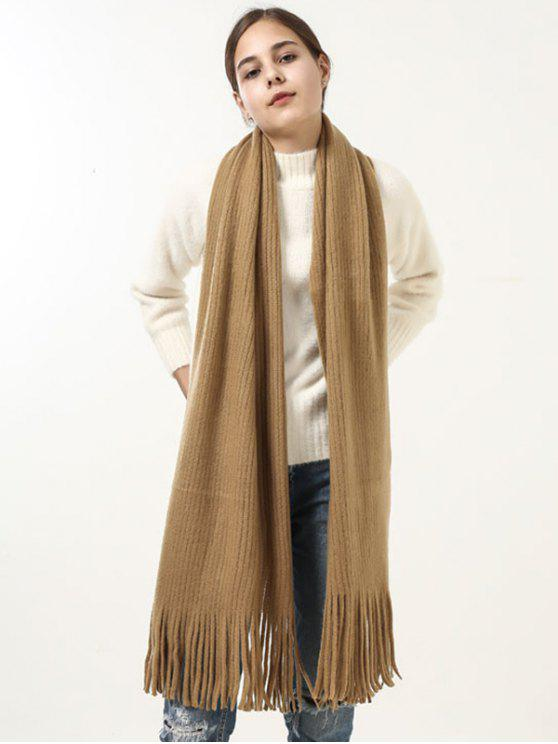 shops Retro Soft Fringed Blanket Long Shawl Scarf - GINGER