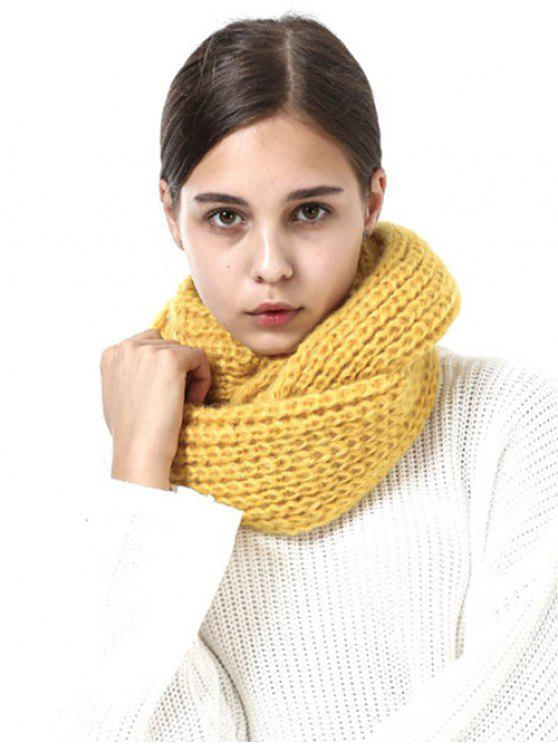 Thicken Knit Chunky Long Scarf - Amarelo Gengibre