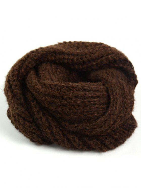 Thicken Knit Chunky Long Scarf - Mocha