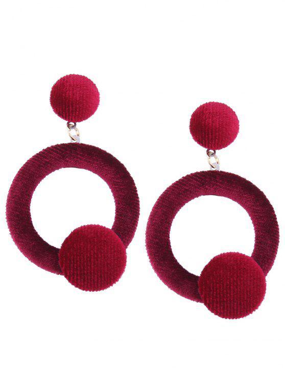 Boucles d'oreilles en velours - Rouge