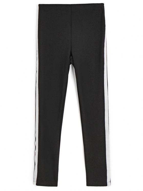 Pantalon Crayon Skinny à Ruban Orné - Noir L