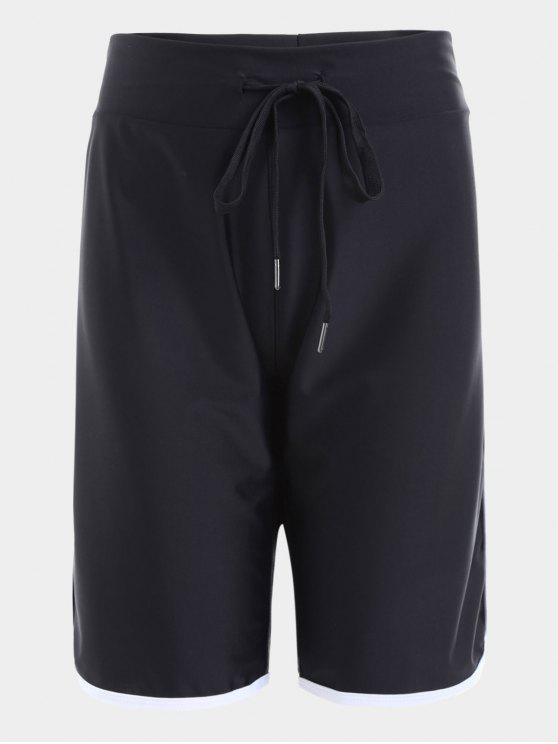Shorts desportivos de cintura alta cintura - Preto L
