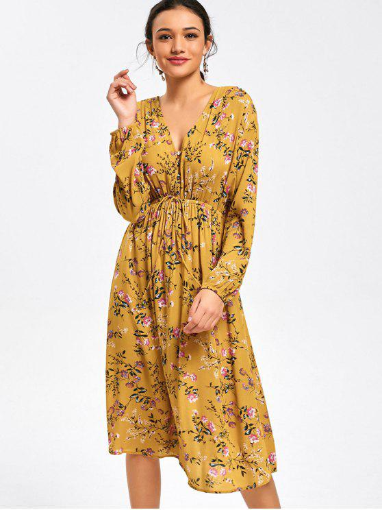 Yellow Floral Dresses
