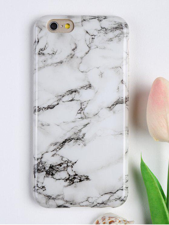 Copertura del telefono molle del modello del marmo per Iphone - Bianco Per Iphone 6 / 6S