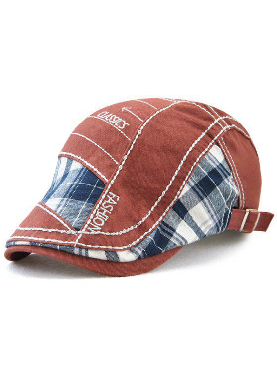 في الهواء الطلق خليط نمط التطريز قبعة كابى - نبيذ أحمر