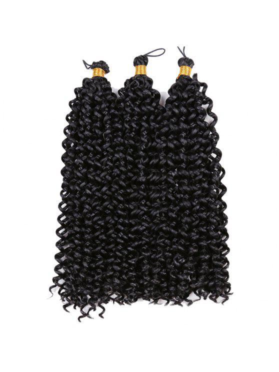 Medium Shaggy Pre Twisted Flashy Curl Tranças sintéticas Weave de cabelo - Preto