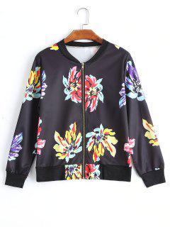 Chaqueta Piloto Floral - Negro S