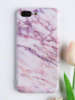 Marble Pattern Soft Cell Phone Cover For Iphone - Pink For Iphone 7 Plus