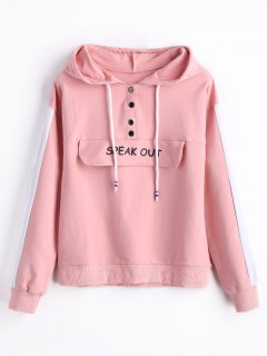 Speak Out Graphic Hoodie - Pink S