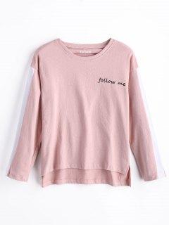 Follow Me Graphic Sweatshirt - Pink M