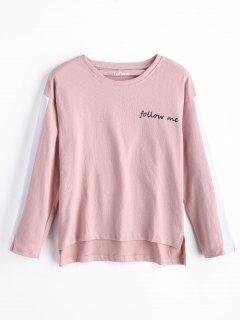 Follow Me Graphic Sweatshirt - Pink S