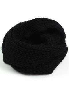 Thicken Knit Chunky Long Scarf - Black