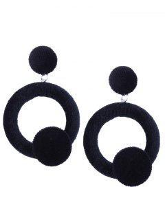 Velvet Circle Earrings - Black
