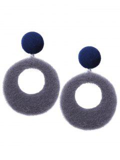 Pendientes Fuzzy Circle - Gris