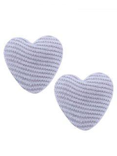 Pendientes De Corazón únicos - Gris