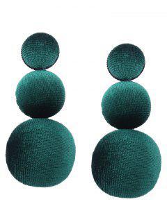Graduierte Runde Samt Ohrringe - Grün