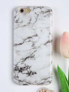 Marble Pattern Soft Phone Cover For Iphone - White For Iphone 6 / 6s