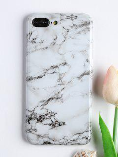 Marble Pattern Soft Phone Cover For Iphone - White For Iphone 7 Plus