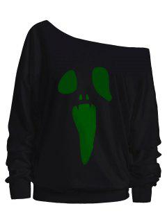 Cuello De La Inclinación Del Fantasma De Halloween - Verde M