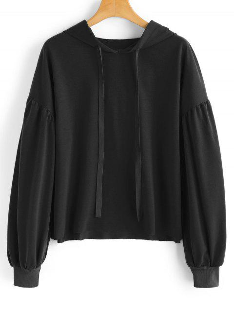 new String Casual Drop Shoulder Hoodie - BLACK S Mobile