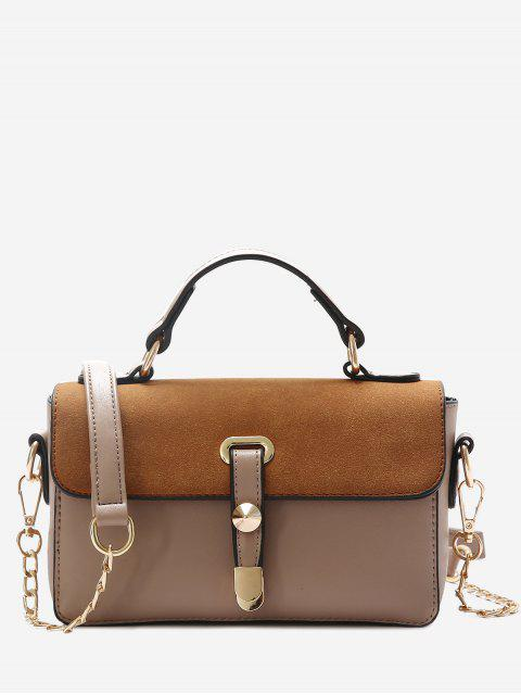 chic Metal Color Block Crossbody Bag -   Mobile