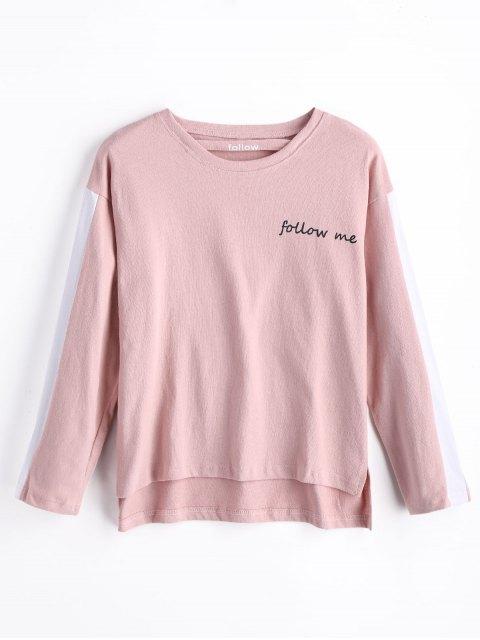 Sweatshirt mit Buchstabe Grafik - Rosa S Mobile