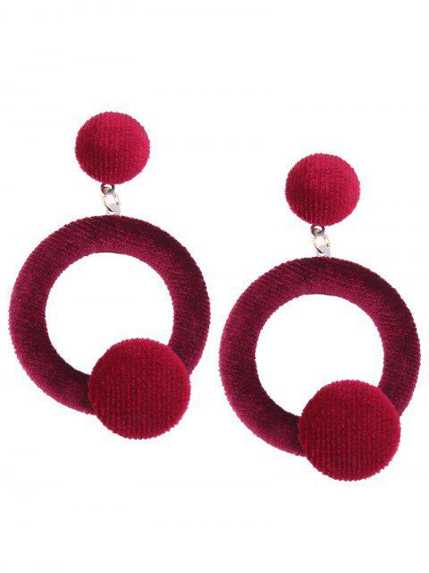 Aretes de terciopelo - Rojo  Mobile