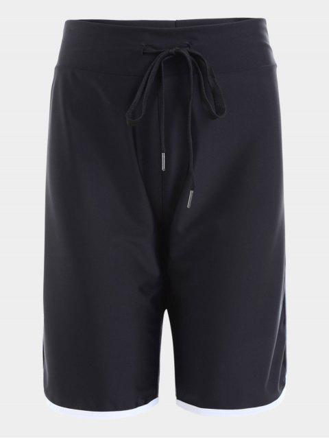 Short de Sport Taille Haute avec Cordon - Noir L Mobile
