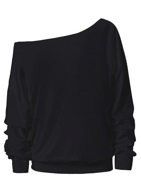 fancy Halloween Ghost Skew Neck Sweatshirt - PEACH RED M Mobile
