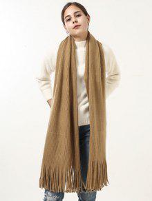 ريترو لينة مهدب بطانية طويلة شال وشاح - زنجبيل