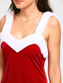 2d642f7dc6d 62% OFF  2019 Hooded Backless Mini Christmas Dress In RED