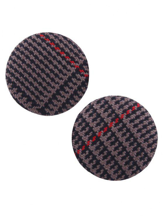 affordable Crochet Round Stud Earrings - DEEP BROWN